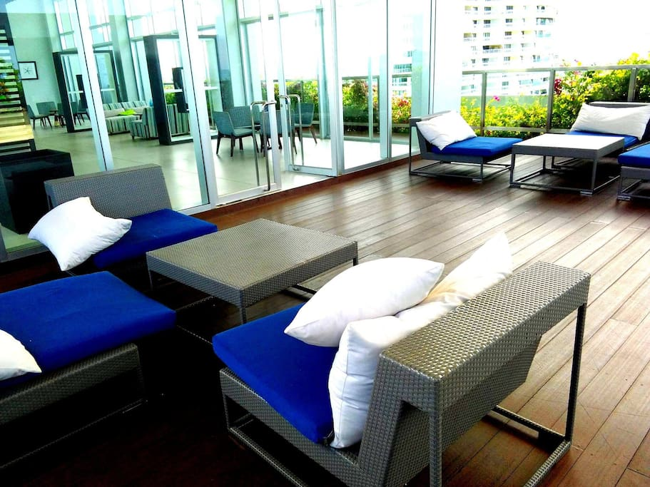 Relax zone roof garden on the 29 floor