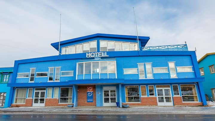 Lite, koselig hotell midt i sentrum av Sortland