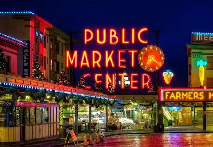 Private bedrm Pike Market Seattle Art Museum