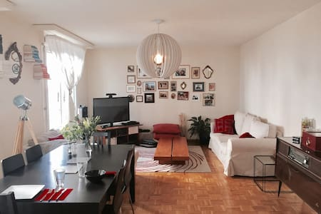 Quiet Room with own bathroom 5 min from the Lake - Genève - Appartement