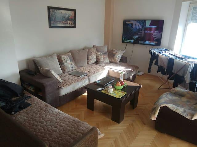 Goce's cozy apartment.