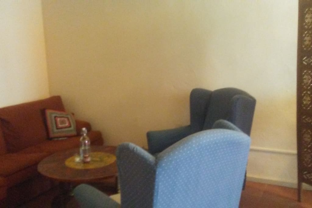 Sitting corner in the living/study room