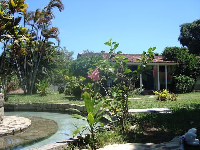 Casa de campo e praia