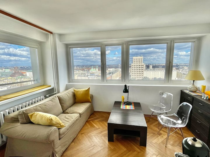 Super Apartament YELLOW 2xMetro WiFi 50'TV Netflix