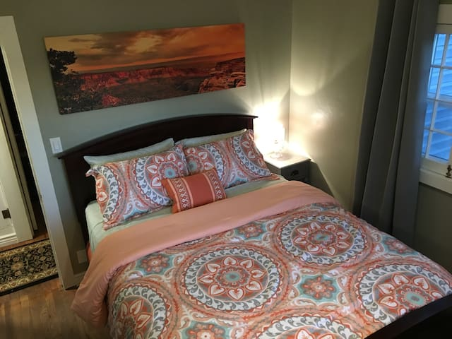 Queen Room with Cherry High-boy dresser