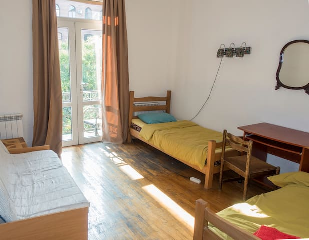 Twin Room with a Balcony in Diwan Hostel