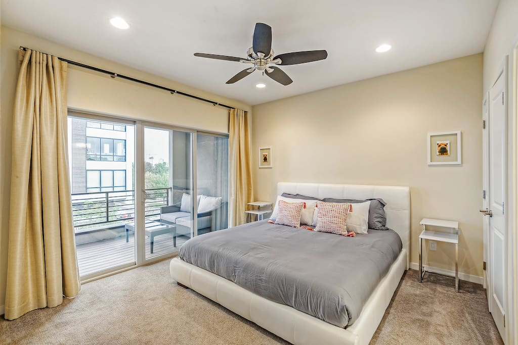Beautiful master bedroom with private deck!