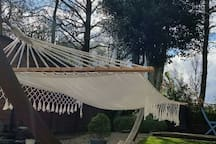 Relax in the hammock if the weather is nice!
