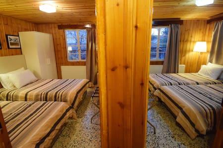 quadruple 4 single beds, view, verandha