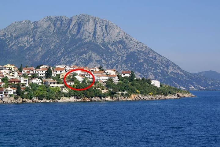 Two bedroom apartment with terrace and sea view Podaca, Makarska (A-2711-b) - Podaca - Apartment