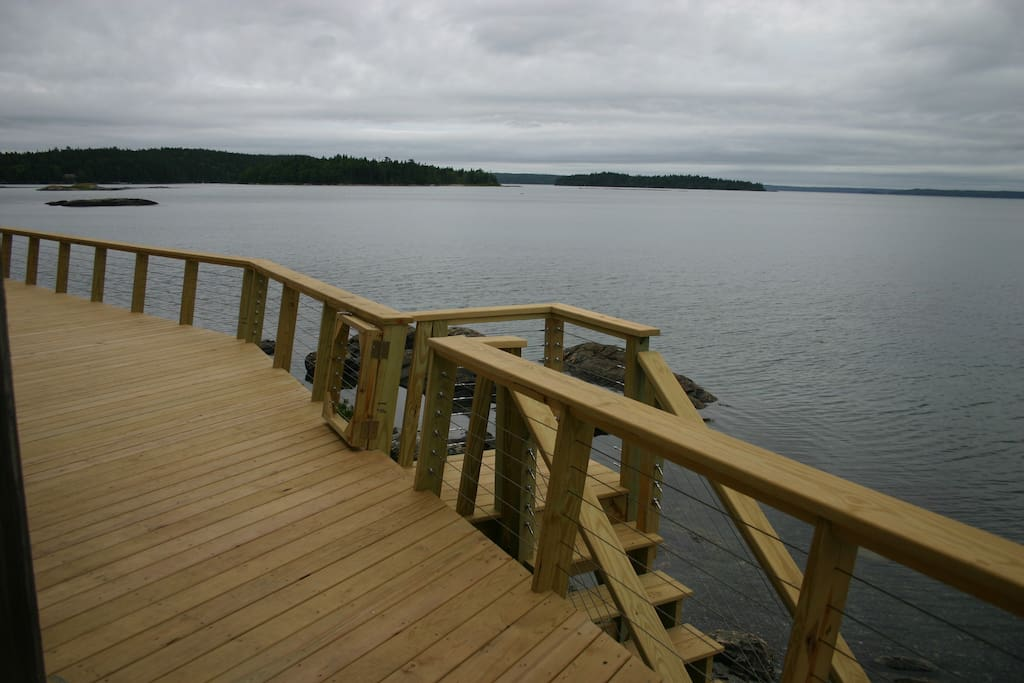 View from the deck at high tide.
