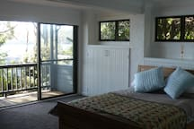 Second bedroom with view over Pittwater