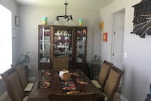 Dining room shared area