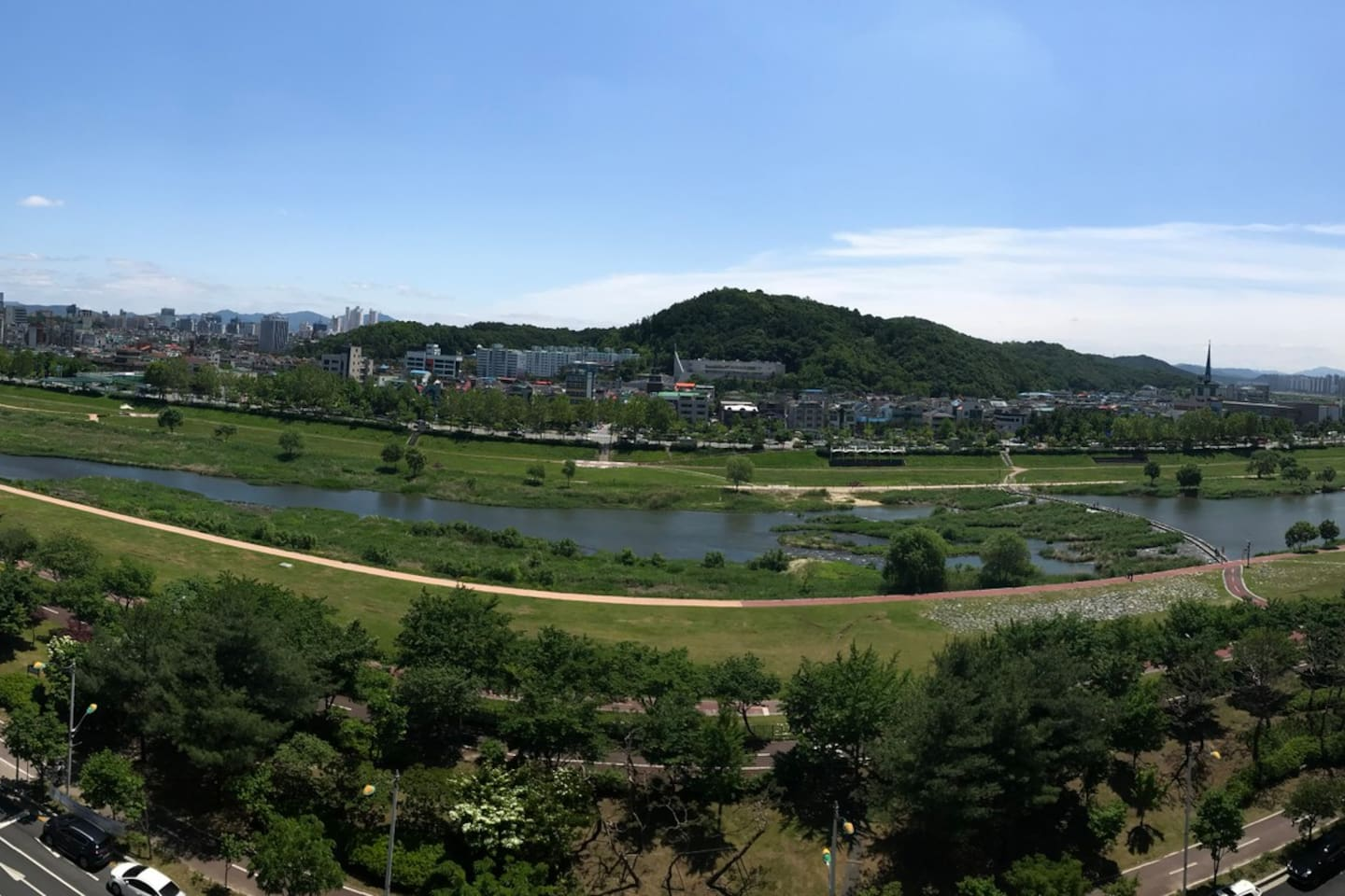 View from the balcony of the Gapcheon river