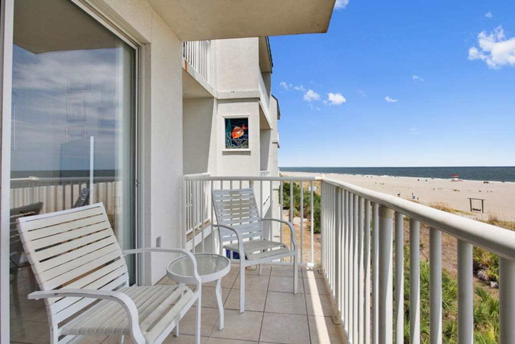 Spectacular Panoramic Views of Tybee Beach and the Atlantc Ocean from your Private Balcony