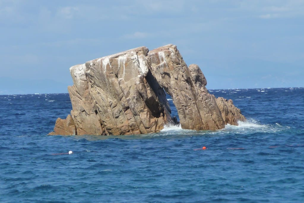 Craggy Rocks Are A Feature All Along The Coast