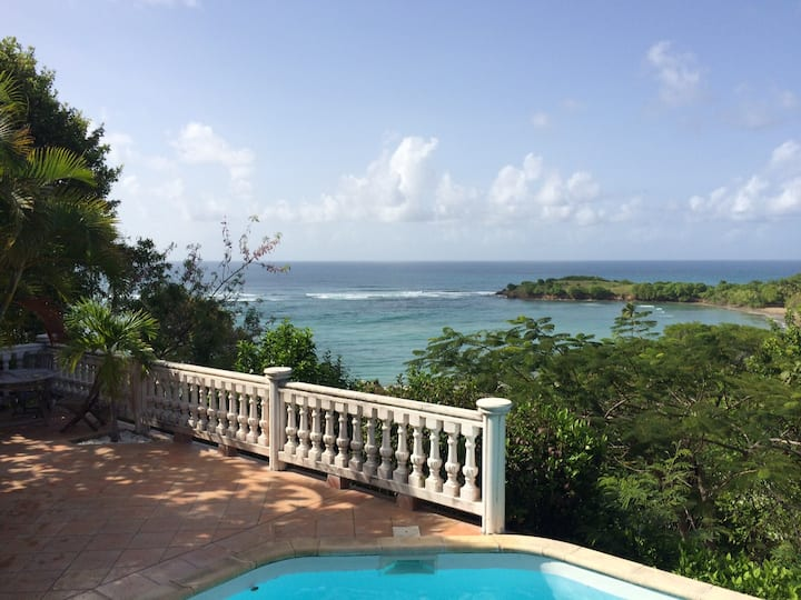 Magnifique vue mer, accès direct piscine et plage