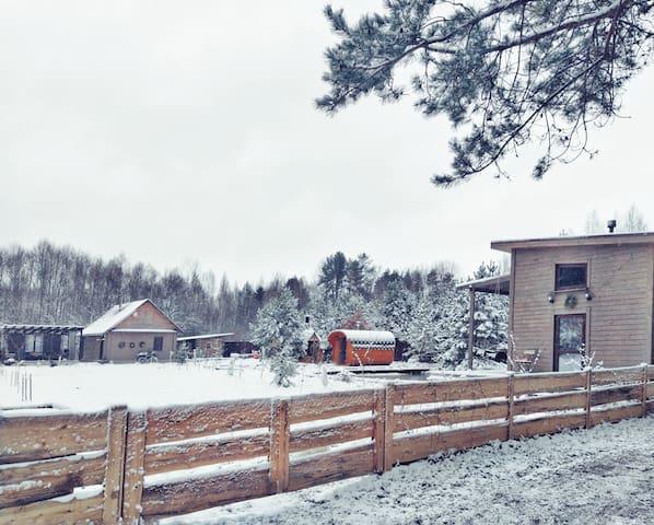 Дом в Беларуси, в 50 км от Минска.