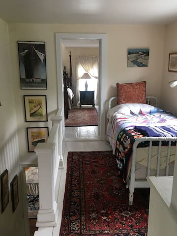 Single Bed in Hallway for an extra guest.