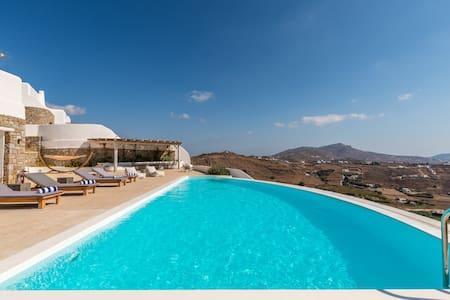 Luxury villa with stunning views above Kalo Livadi