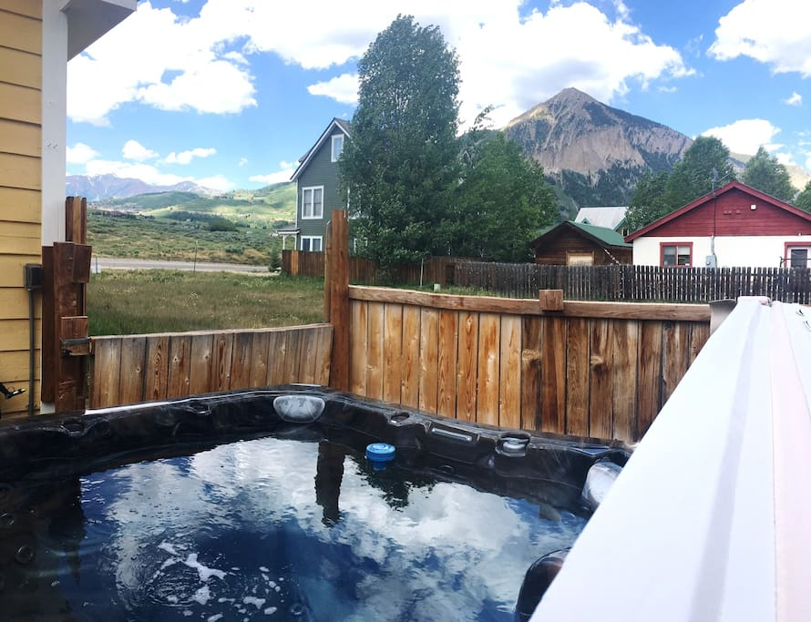 Soak in the views from your private hot tub