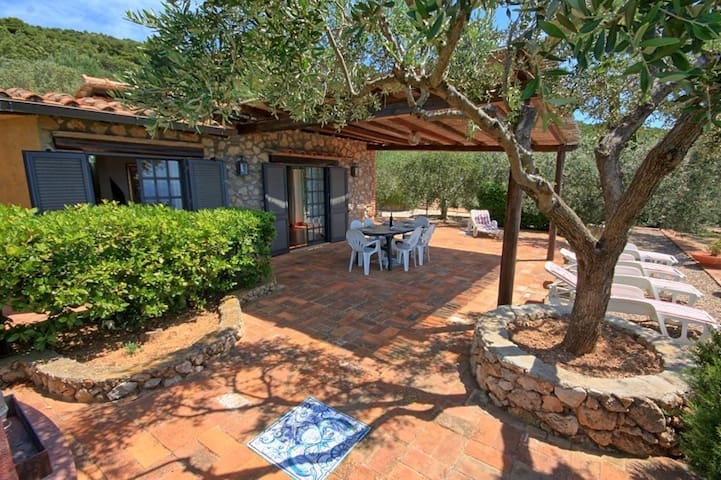 Stunning  villa for 5 guests with WIFI, TV, patio, pets allowed, panoramic view and parking