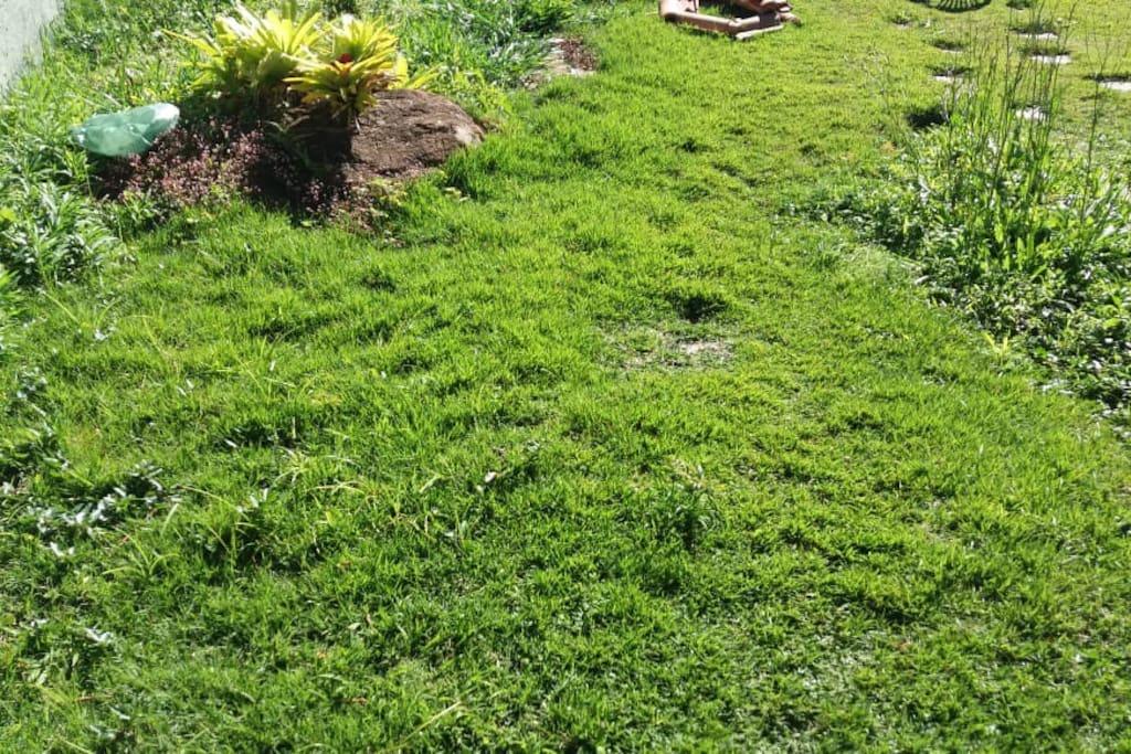 pequeno quintal que dá independência à suíte. Ótimo local para um banho de sol