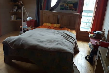 Chambre a louer avec lit double - Copponex