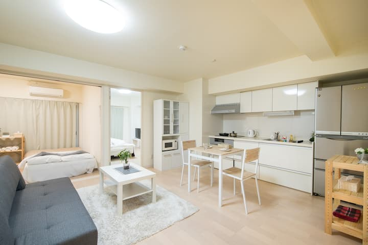 Luxury Hideout♡Central of Hakata 3Bd room WIFI