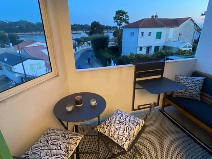 Appartement  35 m2,vue mer, plage de Nauzan