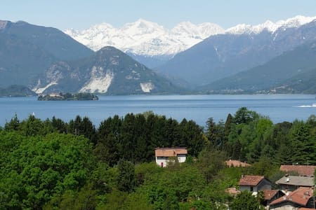 Spectacular view on lake/mountains - Laveno-Mombello - Apartamento