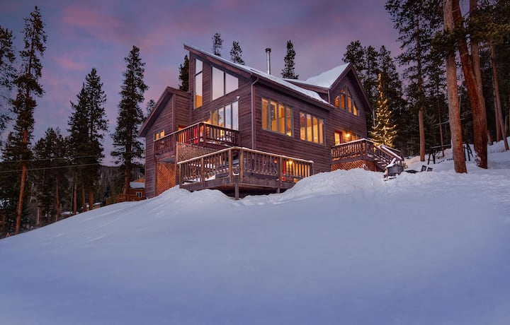 Ullr Haus has private & stunning views from this upscale Breckenridge home