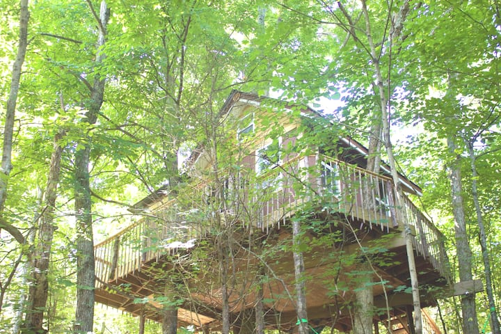 Treehouse~Hickory~ Slide+Trails+Family friendly!