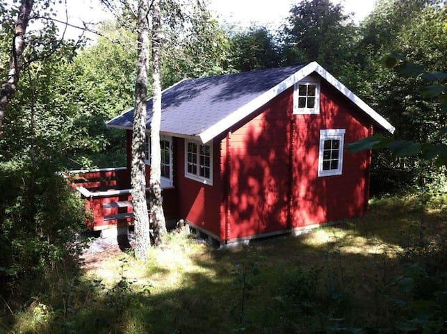 Huset udefra (fra stien i skoven)
