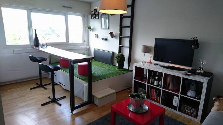 Studio  32 m2 entre Bordeaux et la plage - Saint-Médard-en-Jalles - Leilighet