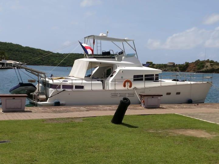 Bateau catamaran moteur croisière