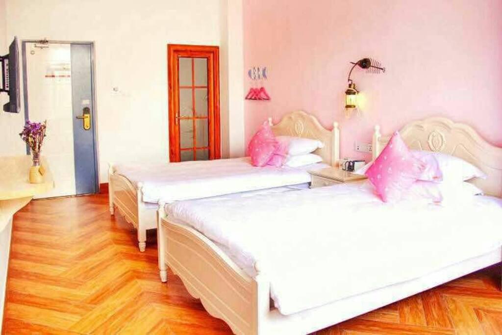 countryside style fashion room-romantic美式乡村双床房之浪漫粉