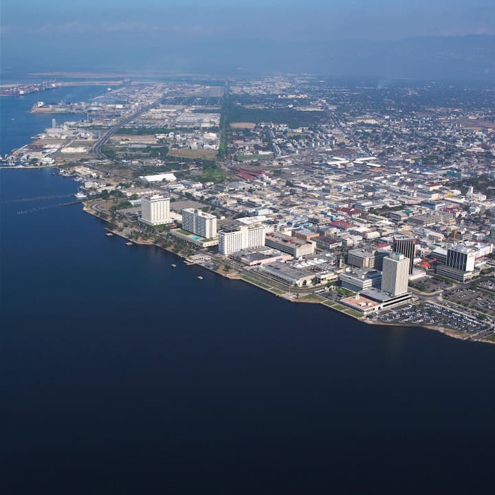 Aerial view of Kingston Harbour