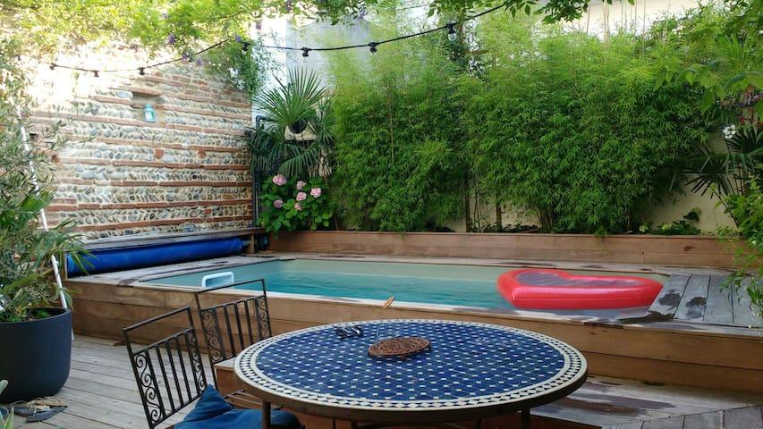 Grande maison avec piscine au centre de Toulouse