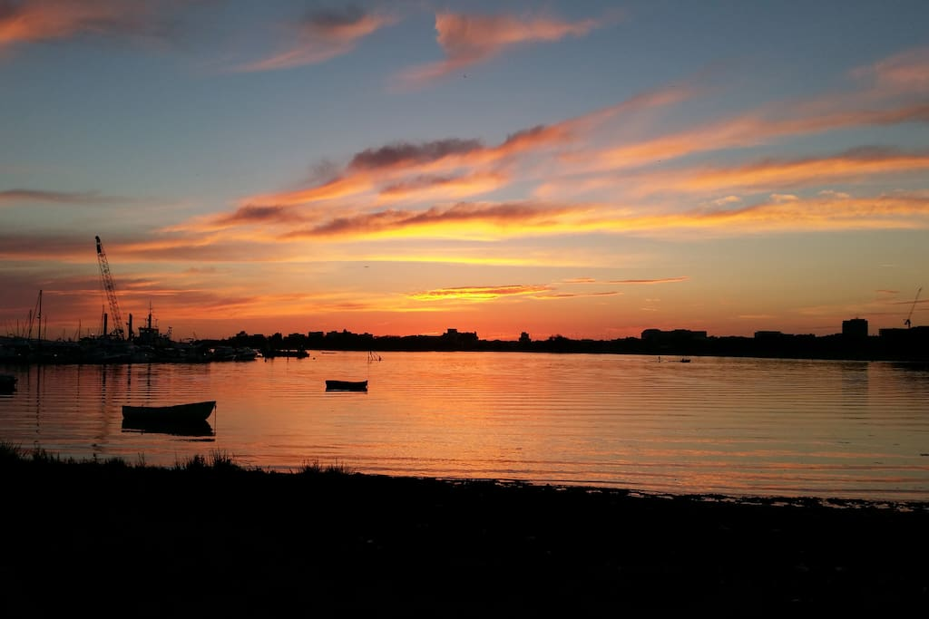 Beautiful sunsets just a short walk away at Poole harbour