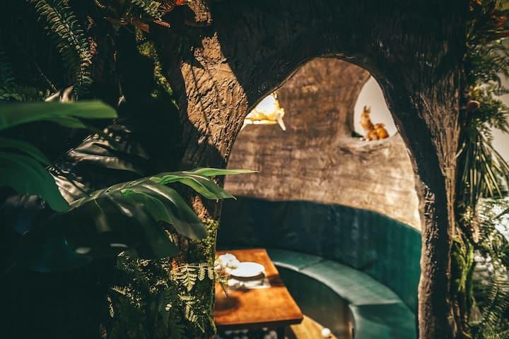 【挪威的森林*树洞房】温州老城区中心•步行至五马街·垟儿路火柴厂旧址·瓦房特色建筑·卫生间在院子里