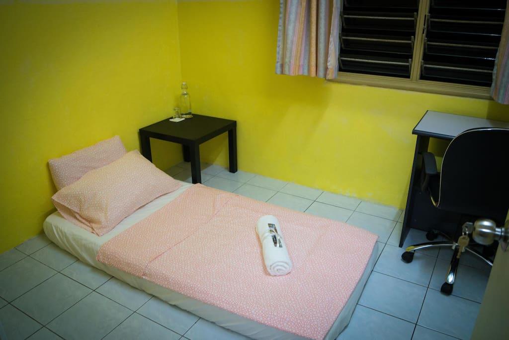 1 bed setup