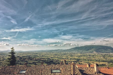 Best view of Umbria! flat in tipical brick house - Apartmen