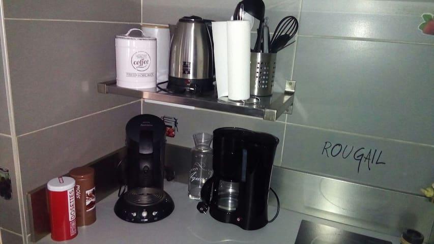 café, dosette et céréales...
