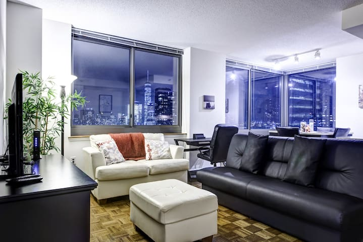 Nyc ultra modern two bedroom high rise suite - 2 bedroom apartments for rent jersey city ...