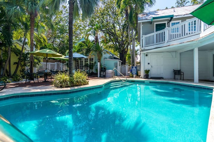 Boutique Suite in Key West | Stroll Along Brick-Garden Grounds or Swim in the Shared Outdoor Pool