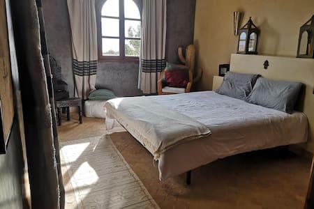Charming bedroom in luxurious villa