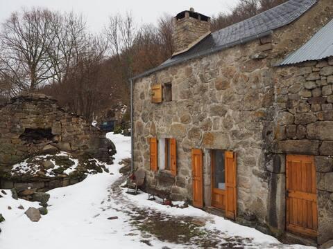 Maison de berger sur les monts Lozère
