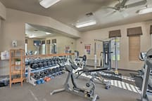 You'll even have access to a fitness center.