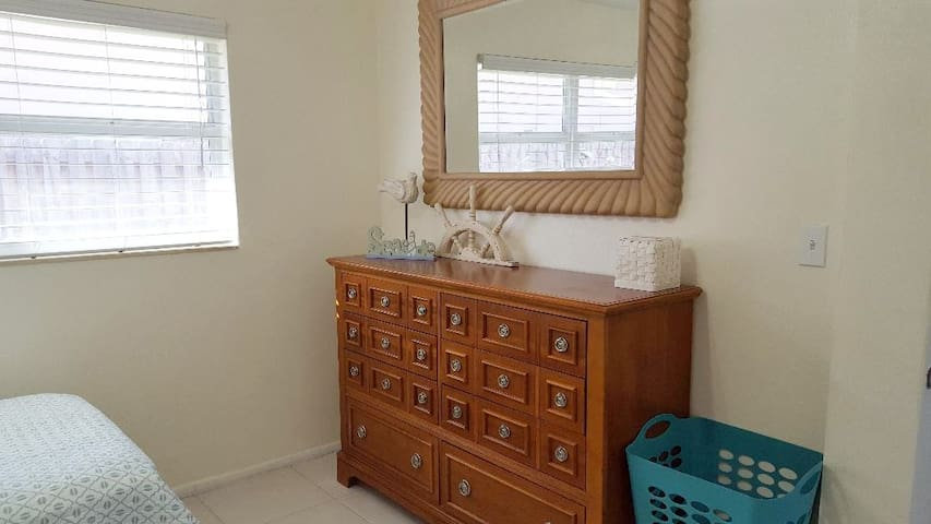 Dresser in the bedroom so you can move-in and feel at home.